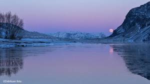 Fullmåne over Kåfjord