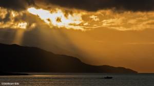 Solgløtt over Altafjorden