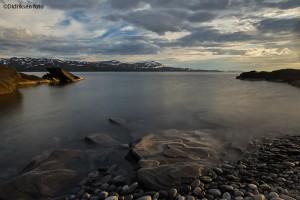 Sommerkveld i fjordlandskap